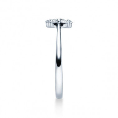 Solitario en oro blanco con diamantes  - 1