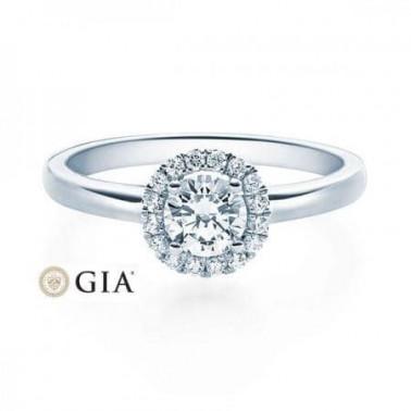 Solitario en oro blanco con diamante de 0,20 ct (tw,si) Rubin - 1