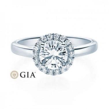 Solitario en oro blanco con diamante de 0,20 ct (tw,si) Rubin - 2