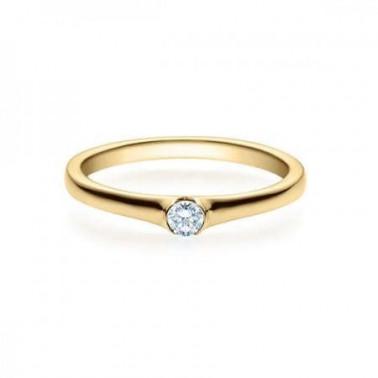 Solitario en oro blanco con diamante de 0,30 ct (tw,si) Rubin - 1