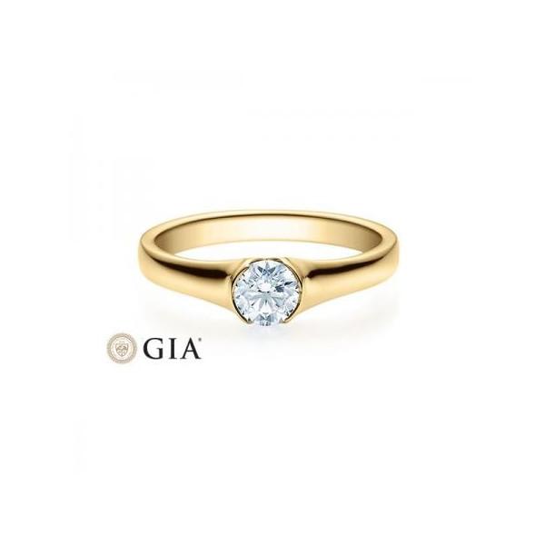Solitario en oro blanco con diamante de 0,50 ct (tw,si) Rubin - 1