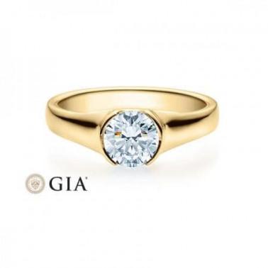 Solitario en oro blanco con diamante de 0,50 ct (tw,si) Rubin - 2