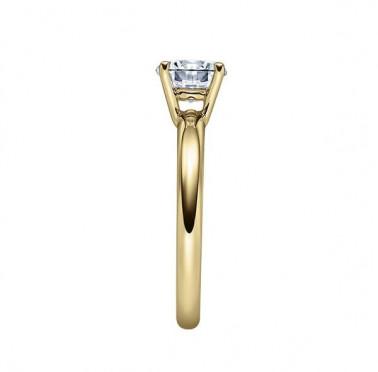 Solitario en oro blanco con diamante de 0,70 ct (tw,si) Rubin - 1