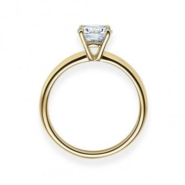 Solitario en oro blanco con diamante de 0,70 ct (tw,si) Rubin - 2