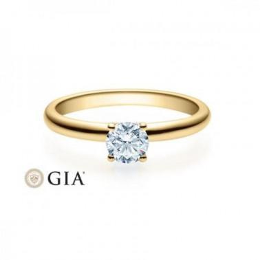 Solitario en oro blanco con diamante de 0,15 ct (tw,si) Rubin - 1
