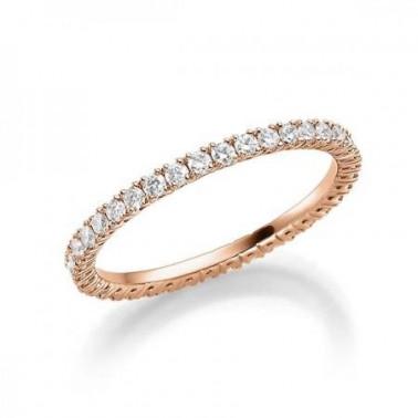 Solitario en oro blanco con diamante de 0,70 ct (tw,si) y corona de diamantes Rubin - 2