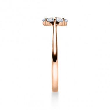 Solitario en oro blanco con diamante de 0,70 ct (tw,si) y corona central de 18 diamantes Rubin - 2