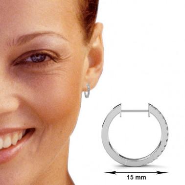 Solitario en oro blanco con diamante de 0,12 ct (tw,si) Rubin - 1