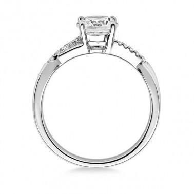 Solitario en oro blanco con diamante de 0,16 ct (tw,si). Diseño 6 puntas Rubin - 2