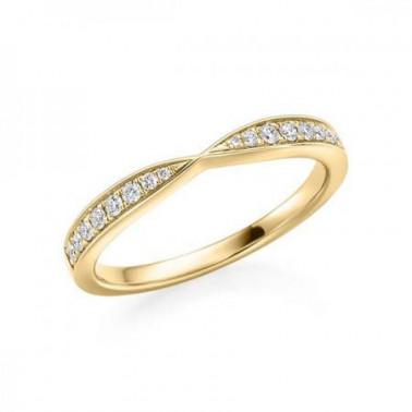 Solitario en oro blanco con diamante de 0,70 ct (tw,si) y corona de 10 diamantes Rubin - 1