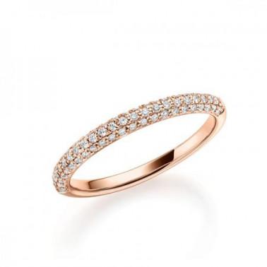 Solitario en oro blanco con 9 diamantes. Total 0,15 ct  (tw,vsi) Rubin - 1