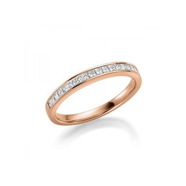 Solitario en oro blanco con diamante de 0,30 ct (tw,si) + 28 diamantes Rubin - 1