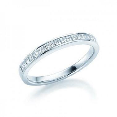 Solitario en oro blanco con diamante de 0,30 ct (tw,si) + 28 diamantes Rubin - 3