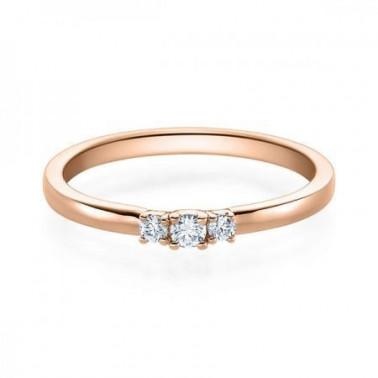 Solitario en oro blanco con diamante de 0,40 ct (tw,si) + 42 diamantes Rubin - 1