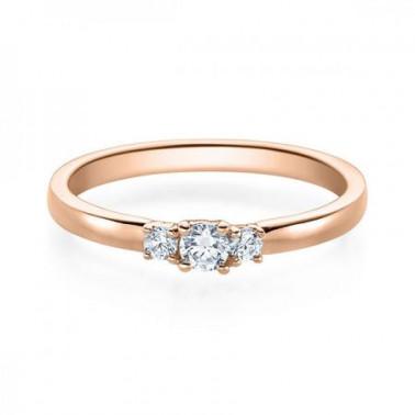 Solitario en oro blanco con diamante de 1,00 ct (tw,si) + 42 diamantes Rubin - 1