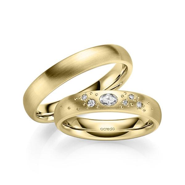 Solitario en oro blanco con 7 diamantes. Total 0,15 ct  (tw,vsi) Rubin - 1