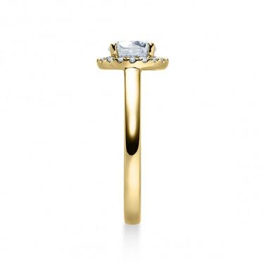 Solitario en oro blanco con diamante de 6 puntas de 0,08 ct (tw,si) Rubin - 2