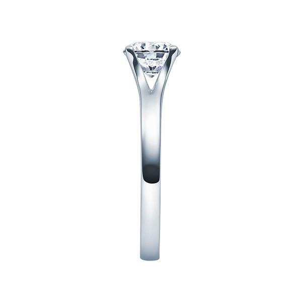 Solitario en oro blanco con diamante de 4 puntas de 0,08 ct (tw,si) Rubin - 1