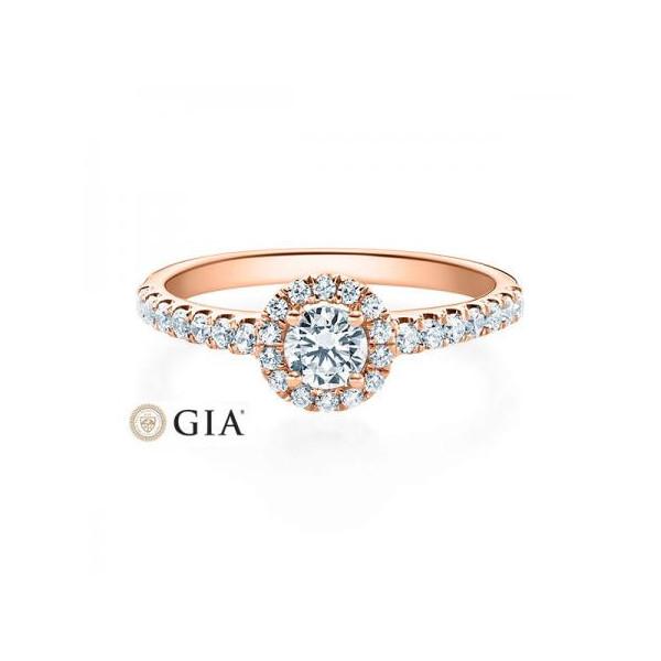 Solitario en oro blanco con diamante de 0,12 ct (tw,si). Cuatro puntas en V Rubin - 1