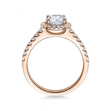 Solitario en oro blanco con diamante de 0,12 ct (tw,si). Cuatro puntas en V Rubin - 2