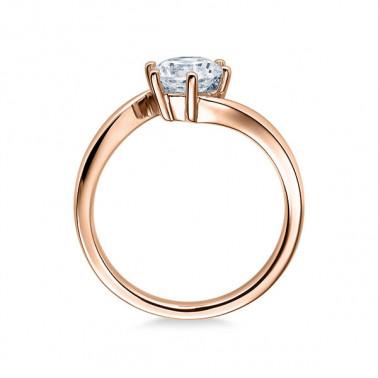 Solitario en oro blanco con diamante de 0,10 ct (tw,si), modelo lazo Rubin - 2