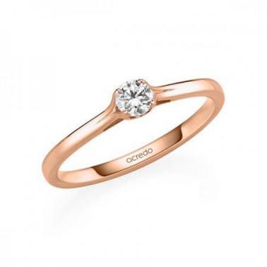Solitario en oro blanco con diamante de 1,00 ct (tw,si) en 6 puntas Rubin - 2