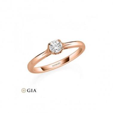 Anillo en oro de 18 K y corona de 7 diamantes Rubin - 1