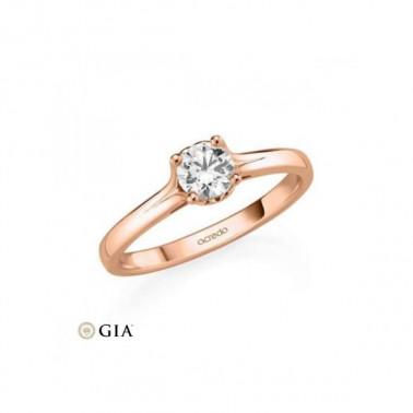 Anillo en oro de 18 K y corona de 7 diamantes Rubin - 2
