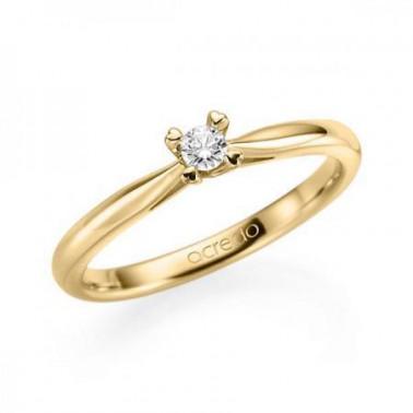 Solitario en oro amarillo de 14 y 18 K. Diamante 0,08 ct.  - 2