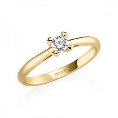 Solitario en oro amarillo de 14 y 18 K. Diamante 0,08 ct.  - 3