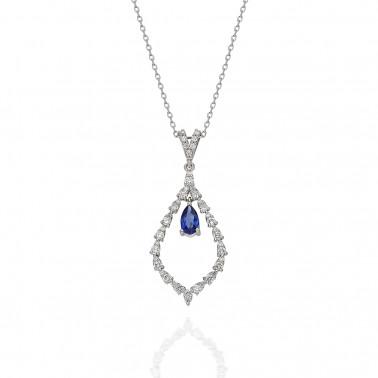 Anillo en oro rosa y un diamante 0,12 ct.  - 1