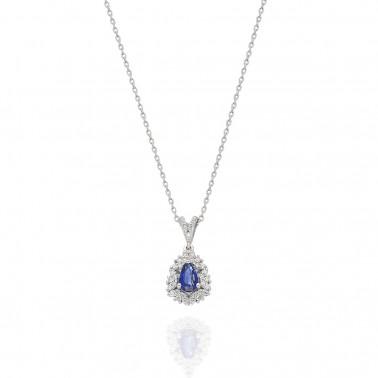 Solitario en oro amarillo y un diamante 0,10 ct. talla princesa  - 1