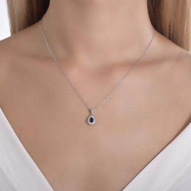 Solitario en oro amarillo y un diamante 0,10 ct. talla princesa  - 2