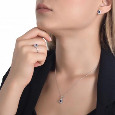 Solitario en oro amarillo con diamante 0,08 ct. 4 puntas  - 3