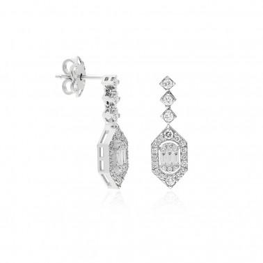 Solitario oro amarillo,  diamante al aire de 0,12 ct.  - 1