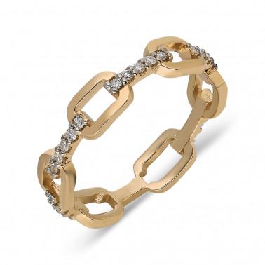 Anillo de compromiso en oro amarillo, modelo eye. Diamante 0,30 ct  - 2