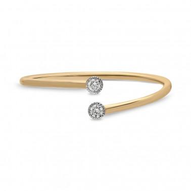 Anillo en oro amarillo con diamante 0,30 ct.  - 2