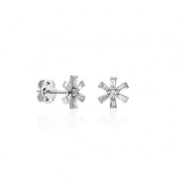 Solitario 6 puntas oro amarillo diamante 0,40 ct.  - 2