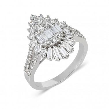 Anillo de compromiso, modelo solitario en oro amarillo, diamante 0,30 ct  - 1