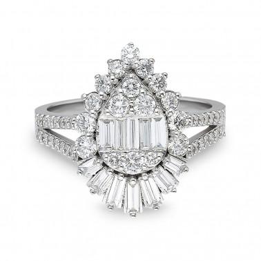 Anillo de compromiso, modelo solitario en oro amarillo, diamante 0,30 ct  - 2
