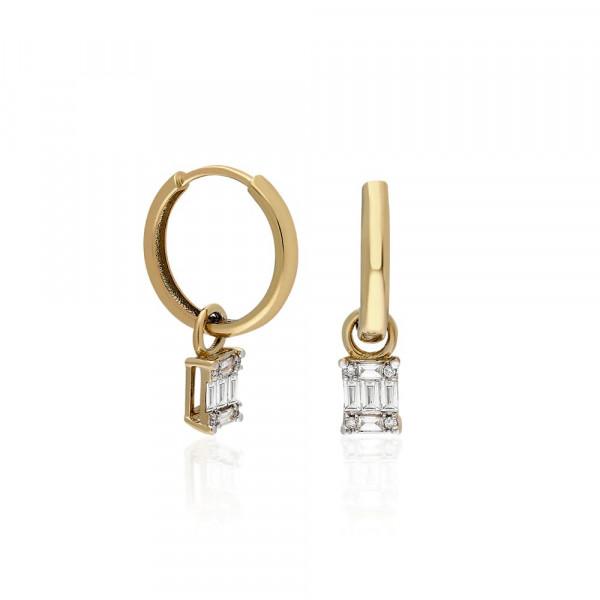 Anillo media corona de diamantes en oro blanco 18 quilates.  - 1